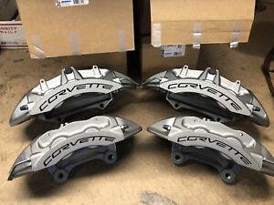 Full Set Zr1 Silver Corvette Calipers 09 13 Corvette 20999156 57 58 59 Brembo