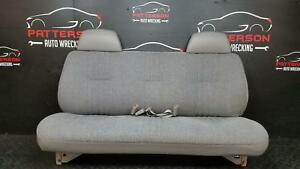 2000 Chevy Pickup 3500 Front Bench Fold Down Cloth Seat Trim Code 13i Wear