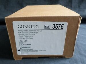 10 Corning 384 well Black Ps Non binding Assay Plate Low Flange No Lid 3575