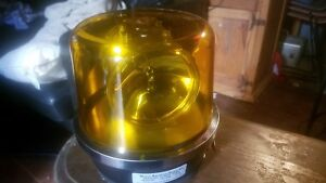 North American Signal Co 212 a Rotating Revolving Beacon Yellow Emergency Light