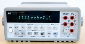 Hp Agilent 34401a Digital Multimeter 6 Digit Tested Spot on Very Clean