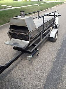 Hamburger Cooker roaster Trailer Catering Party