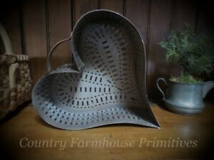 Heart Cheese Mold Punched Tin Reproduction