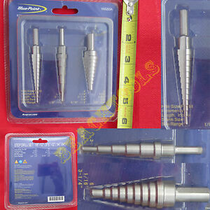 New Blue Point 3 Piece Step Drill Bit Set Yas203a Trademark Of Snap On Inc