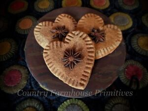 Primitive Cinnamon Spice Hearts Set Of 3 Bowl Fillers Valentine