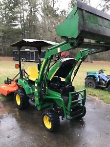 2006 John Deere 2305 Tractor 4x4 W loader Belly Mower bush Hog Low Hrs 280