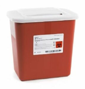 lot Of 10 2 Gallon Mckesson Needle Disposal Container Lid Tattoo Sharps