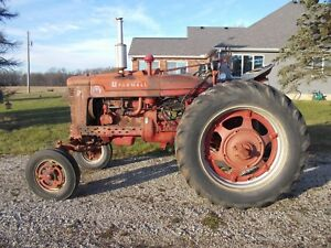 1953 Farmall Sm Super M Wide Frontend Tractor C264 Runs Good Late Chicago Rare