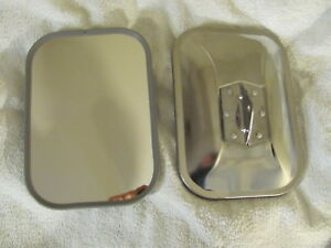 Two Universal 7 1 2 X 10 1 2 Replacement Mirror Heads Stainless Steel