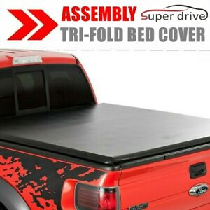 Assemble Lock Soft Tri fold Tonneau Cover For 2005 2019 Nissan Frontier 6ft Bed