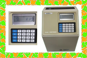 Amano Computerized Employee Time Clock Microder Mjr 7000 With Key