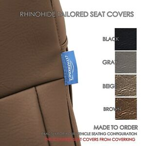 Rhinohide Pvc Heavy Duty Synthetic Leather Seat Covers For Toyota Tacoma