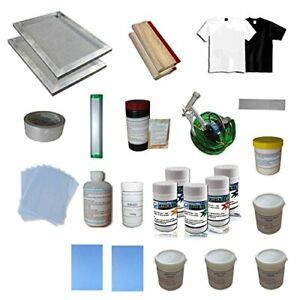 Screen Printing Materials Kit Hand Tools Pack Making With 1 Color Press Printer