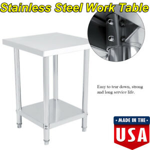 Commercial Kitchen Restaurant Stainless Steel Work Prep Table 24 X 24