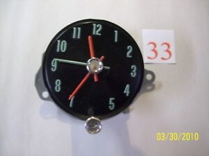 1968 68 Chevelle Used Clock With Quartz Conversion Kit Installed Very Nice