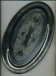 Vntage Epca Bristol Silverplate Serving Wedding Heirloom Dish Tray Platter Plate