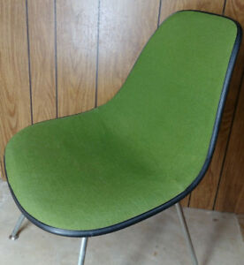 Vintage 70 S Mcm Herman Miller Eames Fiberglass Shell Chair Green Free Shipping
