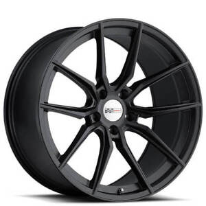 18 19 Staggered Cray Wheels Spider Matte Black Rims Fit Corvette