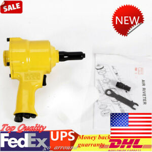 Pneumatic Pistol Type Pop Rivet Gun Air Hydraulic Riveting Hand Tool 21x21x9cm