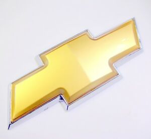 New 07 11 Chevy Tahoe Silverado Rear Tailgate Gold Bowtie Emblem Badge Liftgate