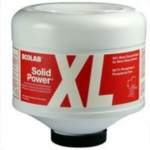New Ecolab 6100185 Solid Power Xl Machine Dishwashing Detergent 4 Count