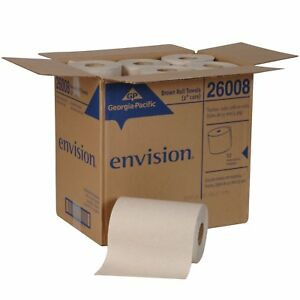 New Georgia pacific Envision 26302 Paper Towel Roll Brown 6 pack 4 Packs