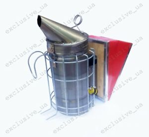 Bee Hive Smoker Steel With Heat Shield Calming Beekeeping Equipment Manual