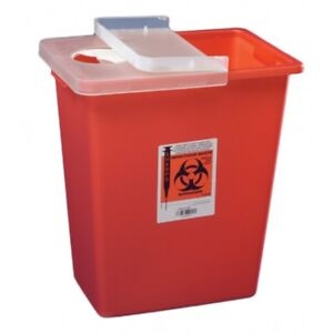 Sharpsafety Multi purpose Sharps Container 1 piece 18 Gallon Case Of 5