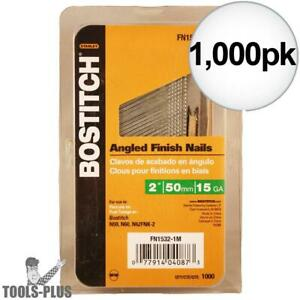 Bostitch Fn1532 1mss Box Of 1000 2 15ga Fn Style Angled Finish Nails New