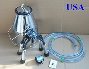 New Portable Cow Milker Bucket Tank 304 Stainless Steel 170672