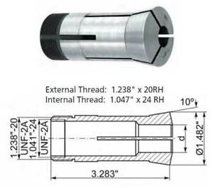 62 Pc 3 64 To 1 X 64ths 5c Precision Round Collet Set 0 0004 Concentricity