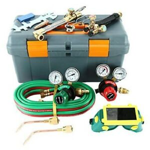 New Gas Welding And Cutting Kit Victor Type 250system Oxygen Torch Set Regulator