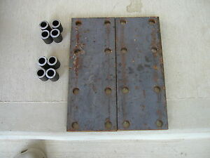 2 Farmall Sh Hv 450 350 Ih Tractor 8 Hole Fender Extension Bracket Plates