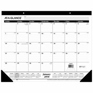 Office School Monthly Desktop Pad Wall Calendar 2018 Organizer Top Planner 22