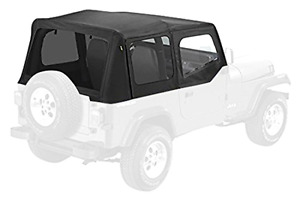 Black Soft Top Foldable Cover 1995 1994 1993 1992 1991 1990 1989 Jeep Wrangler