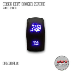 Blue Laser Led Rocker Switch 5pin Dual Light 20a On Off For Jeep Rock Lights