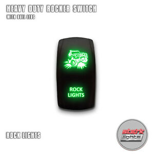 Green Laser Led Rocker Switch 5pin Dual Light 20a On Off For Jeep Rock Lights
