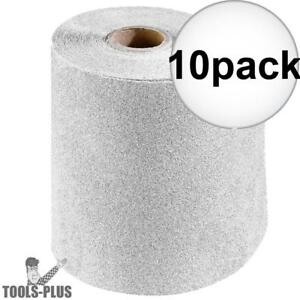 Porter cable 740000801 4 5 X 30 Ft 80 Grit Stikit Sandpaper Roll 10x New