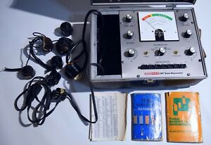 Crt Tester Rejuvenator Eico 633 Guidebooks Vintage Picture Tube Lab