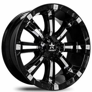 18x10 Rbp Wheels 94r Black With Chrome Inserts Off Road Rims