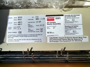 Air Curtain Heater Assembly Dayton 6e811 With 2 Heater Coils