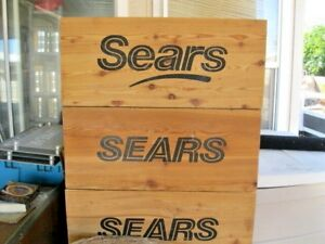 Sears Vintage Wooden Crate From Old Closed Sears Store In Yuma Az Condition