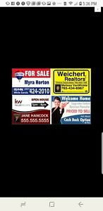 15 Full Color 18 x24 2 sided Yard Signs Real Estate Corrugated Plastic Signs