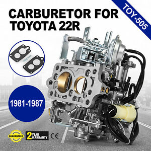 Carburetor Toy 505 For Toyota Pickup 22r 1987 1987 W Green Round Plug Us Stock