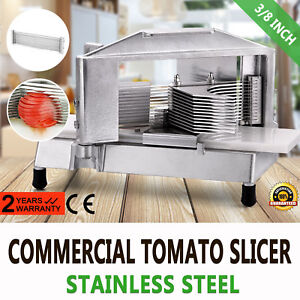 Commercial Fruit Tomato Slicer 3 8 cutting Machine Stainless Steel Blade Slicing