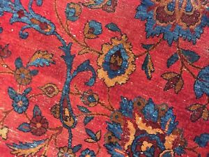 Antique Persian Worn Rug Distressed Estate Carpet As Is 6x9 6