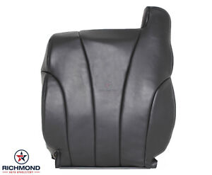 2002 Chevy Silverado Work Truck Driver Side Lean Back Vinyl Seat Cover Dk Gray