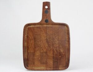 Vintage Danish Modern Digsmed Teak Wood Cutting Board Danmark Made In Denmark