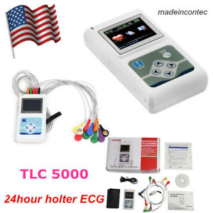 24 Hours 12 Channel Ecg Holter System Recorder Monitor analyzer Software 2020