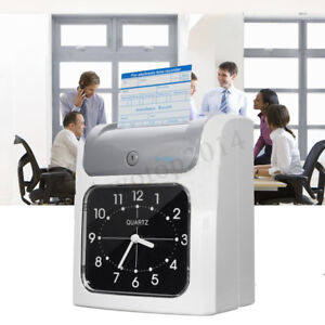 Employee Attendance Punch Time Clock Payroll Recorder Lcd Display W 100
